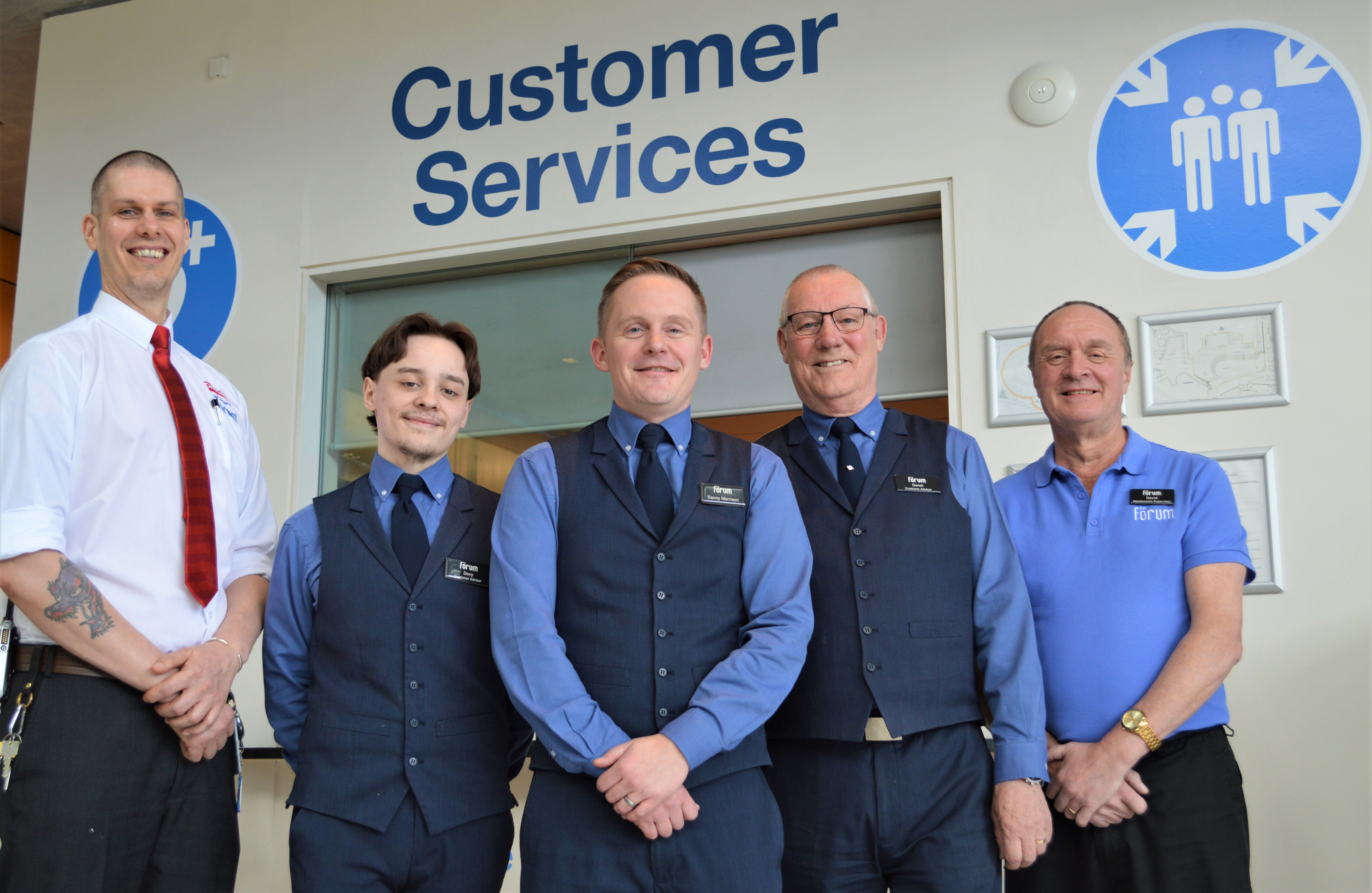 Our customer services team