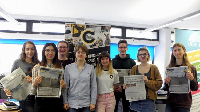 Young Communications Team 2019 at Concrete UEA